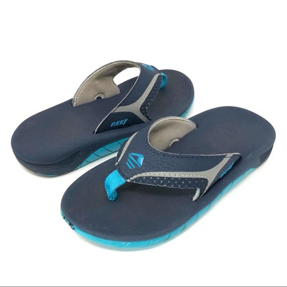 REEF Kids Slap II Sandal Flipflop Blue Size: 11-12